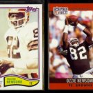 OZZIE NEWSOME 1982 Topps #67 + 1990 Pro Set #75.  BROWNS