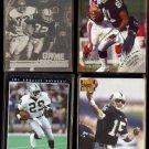 RAIDERS (4) Card Lot (1991 - 1996) w/ Marcus Allen Hologram, Brown, E D+