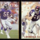 LAWRENCE TAYLOR 1993 Skybox #230 + 1992 Power #56.  GIANTS