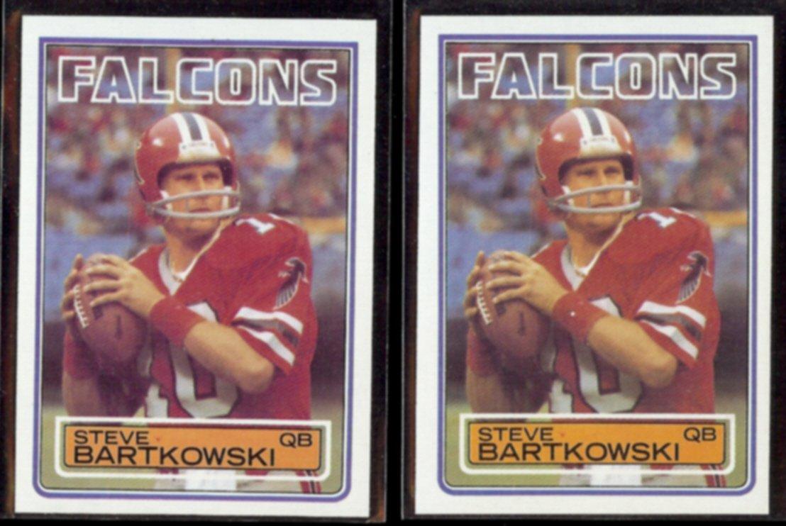 STEVE BARTKOWSKI (2) 1983 Topps #15.  FALCONS