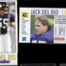 JACK DEL RIO (2) 1992 Game Day #102.  VIKINGS