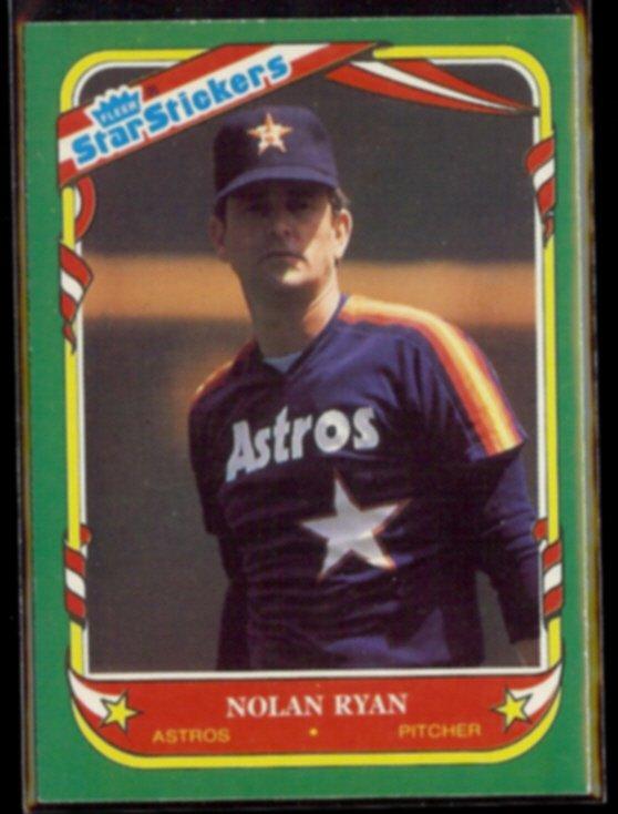 NOLAN RYAN 1987 Fleer Star Stickers #103.  ASTROS