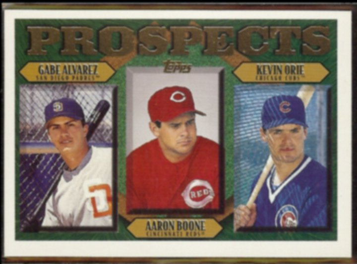 AARON BOONE 1997 Topps Prospects #204 w/ Orie.  REDS