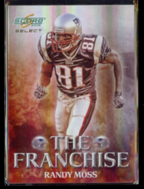 RANDY MOSS 2008 Select The Franchise #'d Insert 127/999.  PATRIOTS