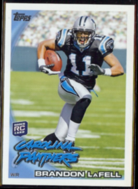 BRANDON LaFELL 2010 Topps Rookie #356.  PANTHERS
