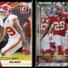 ERIC BERRY 2010 Donruss Rated Rookie + 2015 Topps Chrome Refractor.  CHIEFS