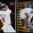 ALBERT BELLE 1996 Pinnacle Zenith #95 + #131.  INDIANS