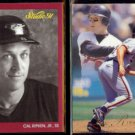CAL RIPKEN Jr. 1991 Studio #9 + 1993 Flair #157.  ORIOLES