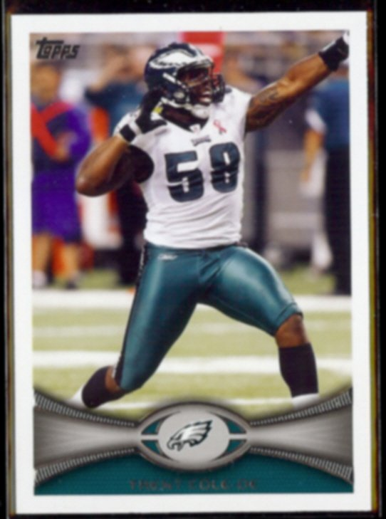 TRENT COLE 2012 Topps #128.  EAGLES
