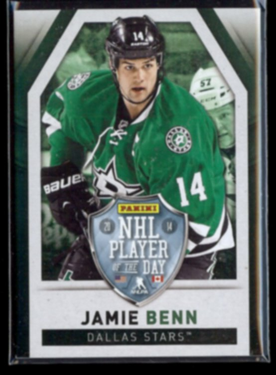 JAMIE BENN 2014 Panini Player of the Day #4.  STARS - Super Thick Stock