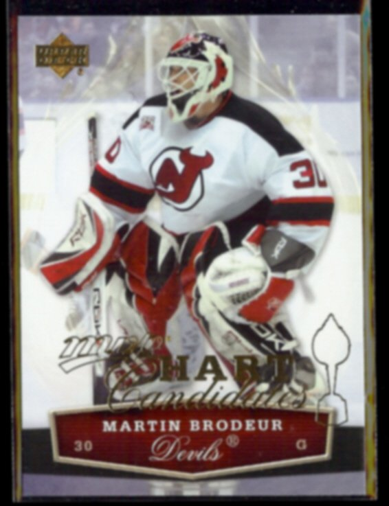MARTIN BRODEUR 2007 UD MVP Hart Candidates Insert #HC3.  DEVILS