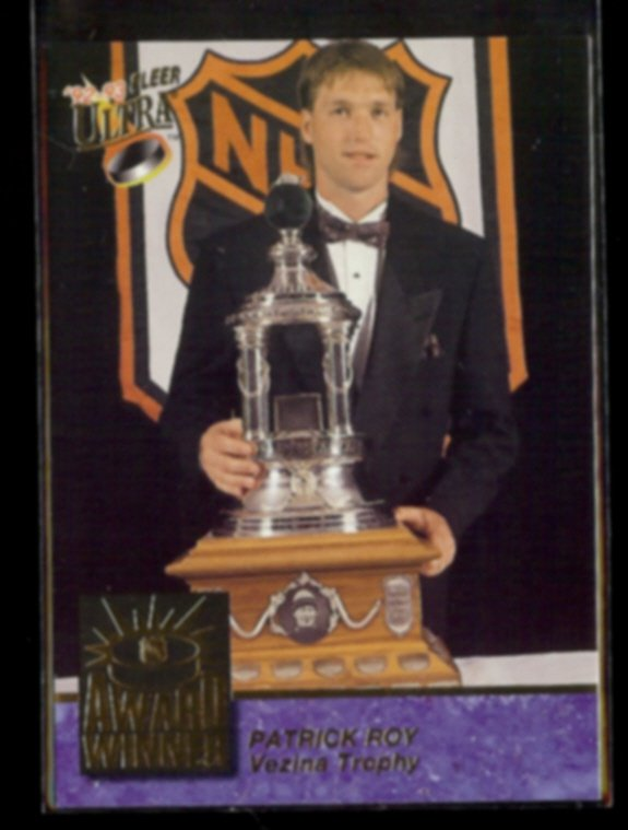 PATRICK ROY 1992 Ultra Award Winner Insert #4 of 10.  CANADIENS
