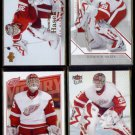 DOMINIK HASEK (4) Card Lot (2006 - 2008).   RED WINGS.