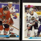 JEREMY ROENICK 1991 Stadium Club #46 + 1992 Bowman #78.  RED WINGS