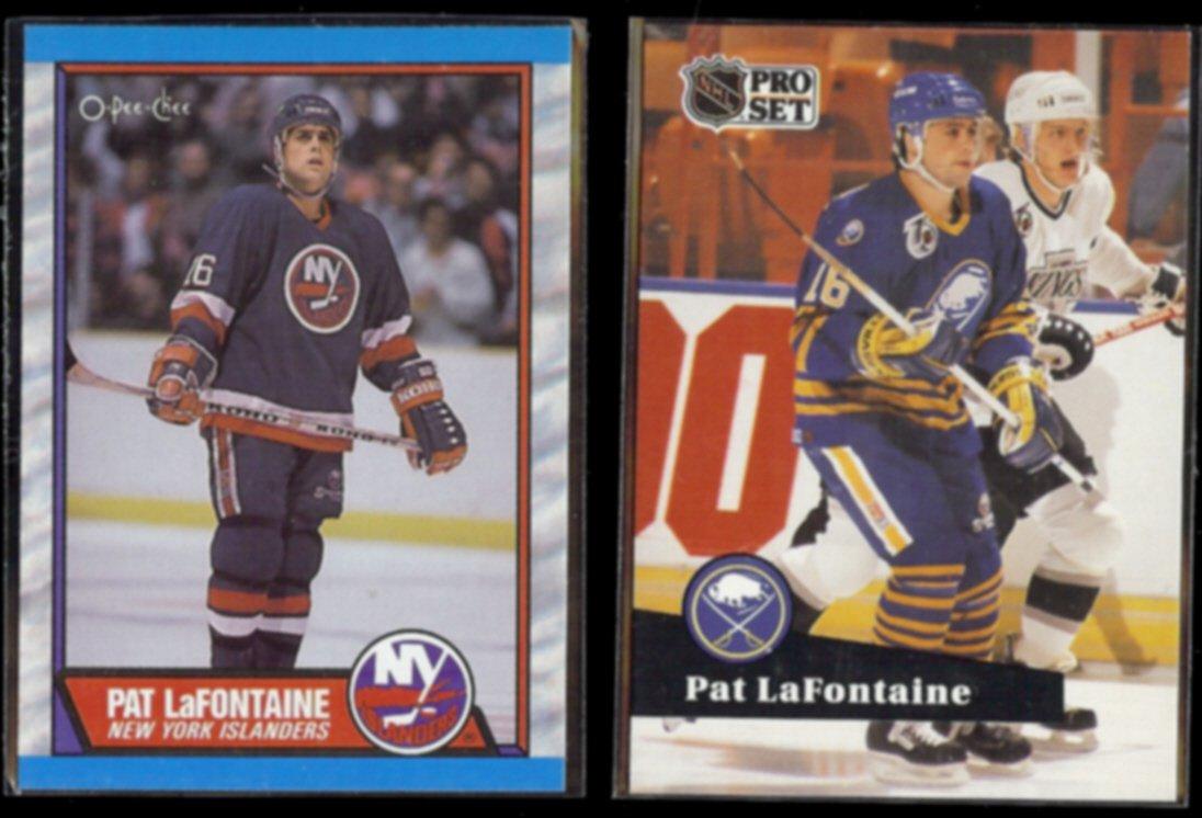 PAT LaFONTAINE 1989 OPC #60 + 1991 Pro Set #358.  ISLANDERS / SABRES