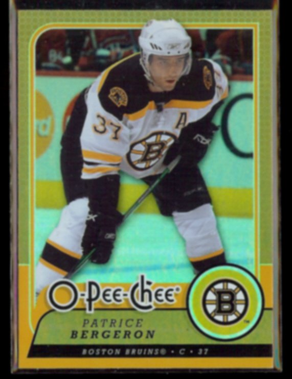 PATRICE BERGERON 2008 O-Pee-Chee Foil #34.  BRUINS