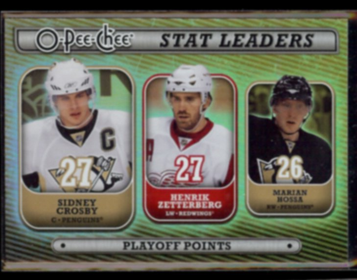 SIDNEY CROSBY 2008 O-Pee-Chee Stat Leaders Foil Insert #SL12.  PENGUINS