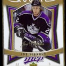 JOE PISKULA 2007 UD MVP Rookie Gold Signature #'d Insert 027/100.  KINGS