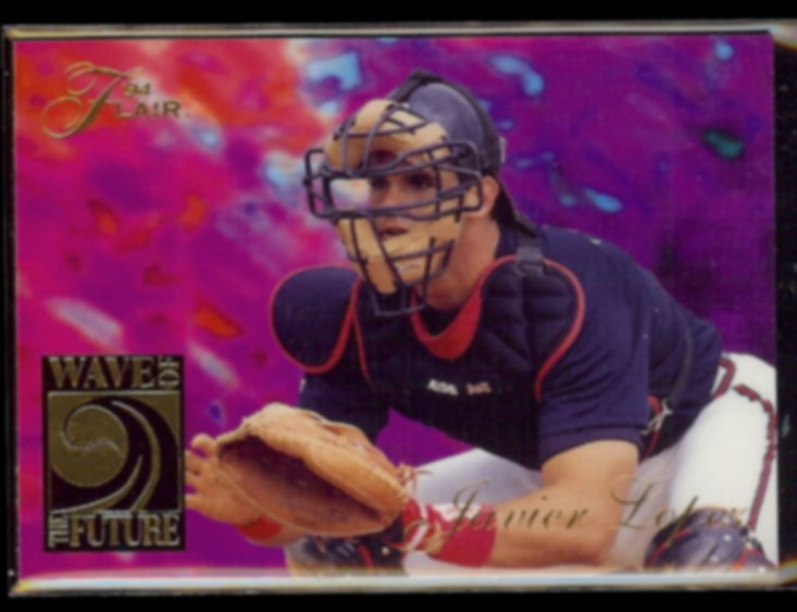 JAVIER LOPEZ 1994 Flair Wave of the Future Insert #5 of 10.  BRAVES