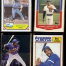 ANDRE DAWSON (4) Card 1980's Oddball Lot.  EXPOS / CUBS