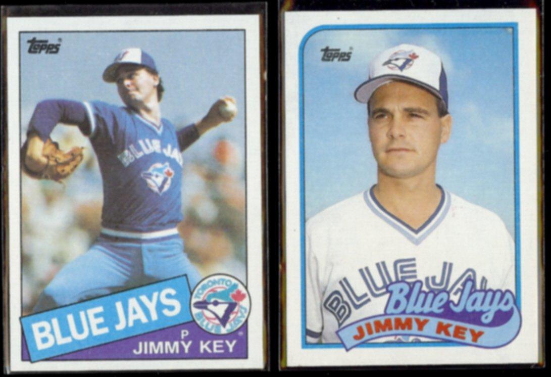 JIMMY KEY 1985 Topps #193 + 1989 Topps #229.  BLUE JAYS