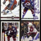 PETER FORSBERG (4) Card Lot (1996 - 2003).  AVALANCHE