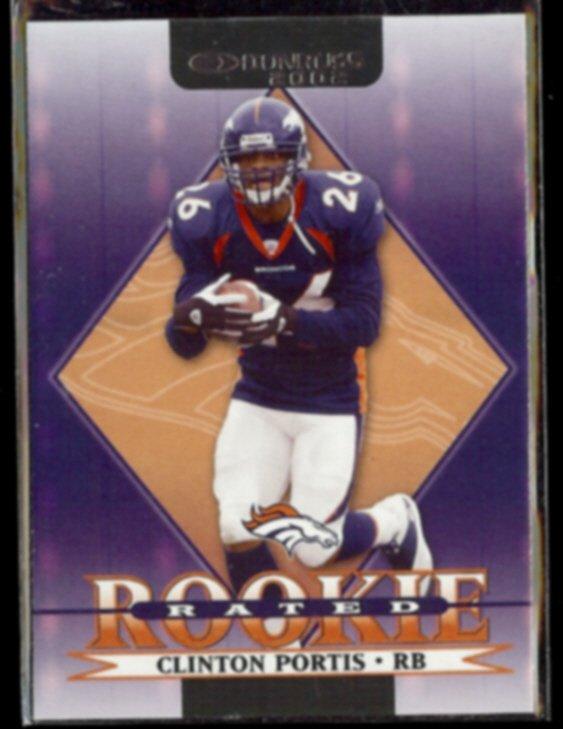 CLINTON PORTIS 2002 Donruss Rated Rookie #218.  BRONCOS / Hurricanes