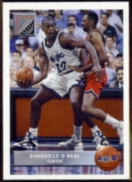SHAQUILLE O'NEAL 1992 UD McDonald's Future Force Insert #P43.  MAGIC