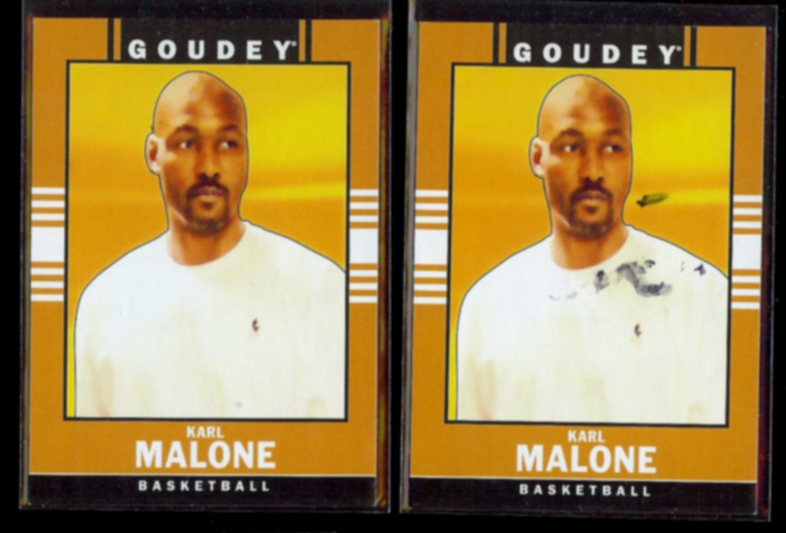 KARL MALONE (2) 2014 Upper Deck Goodwin Champs #18.  JAZZ.
