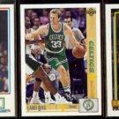 LARRY BIRD (3) Card Lot (1990 - 1992)  CELTICS