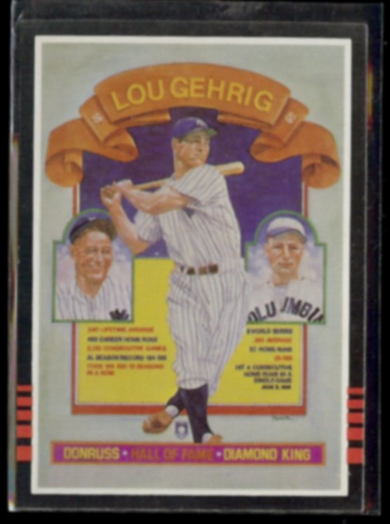 LOU GEHRIG 1985 Donruss Diamond King #635.  YANKEES