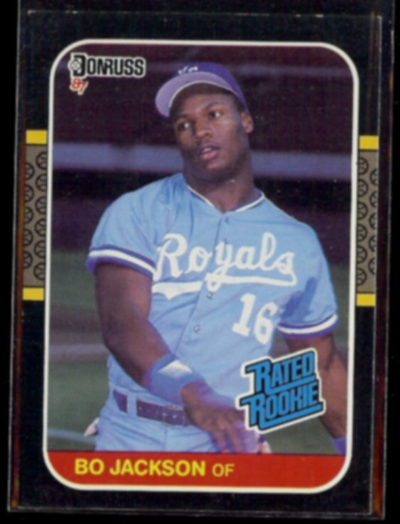 BO JACKSON 1987 Donruss Rated Rookie #35.  ROYALS