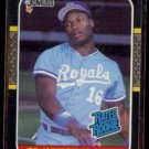BO JACKSON 1987 Donruss Rated Rookie #35.  ROYALS