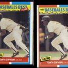 TONY GWYNN (2) 1987 Fleer Best Odds #17 of 44.  PADRES - Straight from Sets