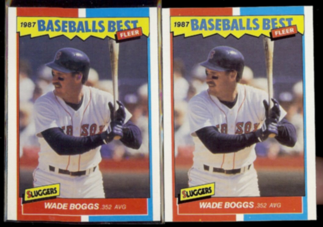 WADE BOGGS (2) 1987 Fleer Best Odds #4 of 44.  RED SOX - Straight from Sets