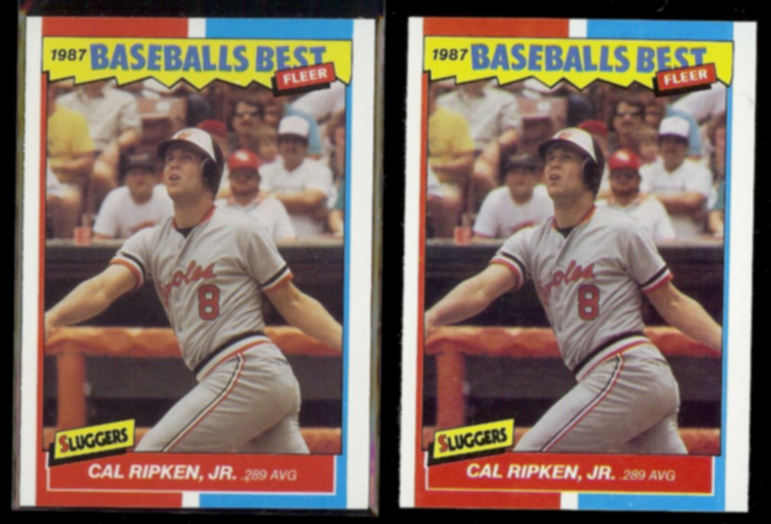 CAL RIPKEN (2) 1987 Fleer Best Odds #35 of 44.  ORIOLES - Straight from Sets
