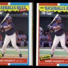 KIRBY PUCKETT (2) 1987 Fleer Best Odds #31 of 44.  TWINS - Straight from Sets
