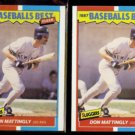 DON MATTINGLY (2) 1987 Fleer Best Odds #25 of 44.  YANKEES - Straight from Sets