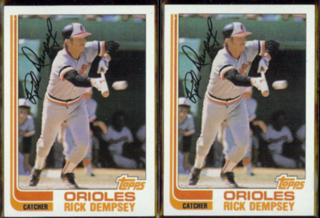 RICK DEMPSEY (2) 1982 Topps #489.  ORIOLES