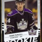 TEDDY PURCELL 2008 Upper Deck Victory Rookie #212.  KINGS