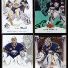 RYAN MILLER (4) Card Lot (2006 - 2010).  SABRES