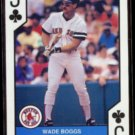 WADE BOGGS 1990 U.S. Playing Card Co. J Clubs.  Red Sox