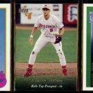 BOB BOONE 1989 Topps + AARON RC + BRETT (3-Cards) Lot