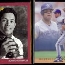 ROBERTO ALOMAR 1991 Studio #131 + 1993 Flair #287.  BLUE JAYS