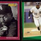 TIM RAINES 1991 Studio #37 + 1993 Select #236.  WHITE SOX