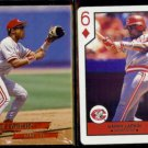 BARRY LARKIN 1993 Ultra #30 + 1990 US Playing Card Co. 6-Diamonds  REDS