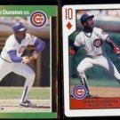 SHAWON DUNSTON 1989 Donruss Best + 1990 US Playing Card Co. 10-Diamonds.  CUBS
