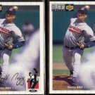 CHARLES NAGY 1994 UD CC Silver Signature Insert w/ sister.  INDIANS