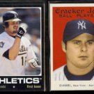 JASON GIAMBI 2002 Upper Deck Vintage + 2004 Topps Cracker Jack.  A's / YANKEES