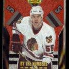 ERIC DAZE 1996 Pinnacle By The Numbers Insert #11 of 15.  BLACKHAWKS